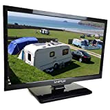 Sniper 22″ HD LED Travel TV with built in <span class='highlight'>DVD</span>, Satellite and Freeview, 12V, 24V & Mains. DVB-T2 & DVB-S2