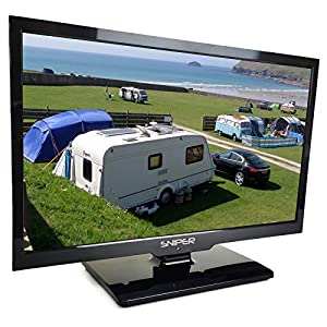 Sniper 19″ HD LED Travel TV with built in DVD, Satellite and Freeview, 12V, 24V & Mains. DVB-T2 & DVB-S2