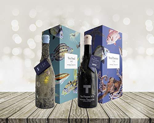 """Oferta Pack especial""""Adelántate a la Navidad"""". Vino submarino Sea Passion Nº6 y Sea Soul Nº7"""