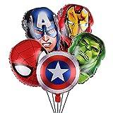 Decorazioni di Compleanno di Supereroi Caland 5 PezziSupereroi Decorazioni di Compleanno Palloncini , Avengers Palloncini per Bambini Decorazione per Feste