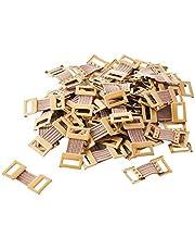 ORIENTOOLS Clips de Vendaje Broches de Metal elástico para Varios Tipos Vendajes, Clips de Cierre de Envoltura reemplazables, Sin látex (50 Clips)