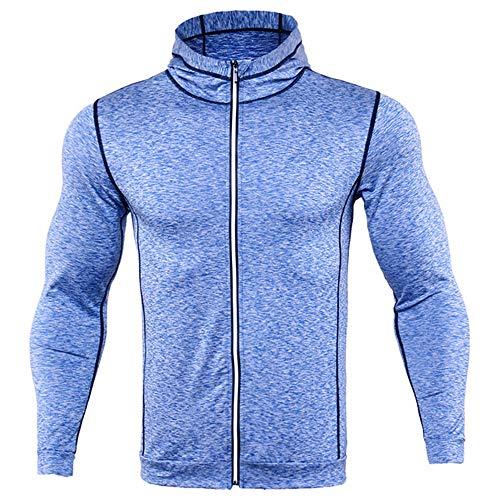 Chaqueta deportiva de invierno para hombre con capucha y manga larga