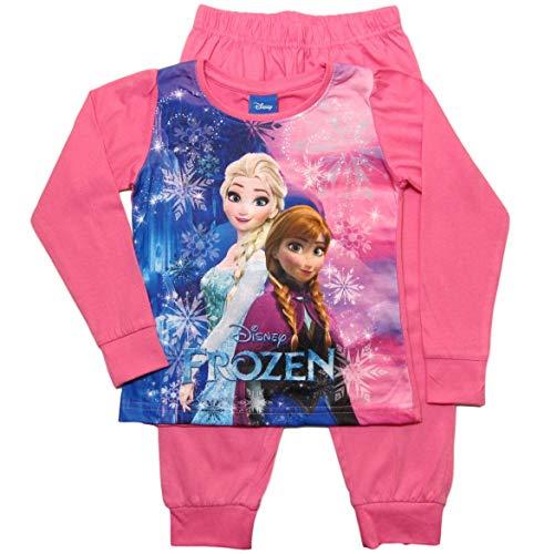 Frozen - Die Eiskönigin Mädchen Schlafanzug ELSA Pyjama (Rosa, 98-104)