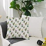 Kissenbezug Polyester Kissenhülle Dekorative,Kaktus-Dekor, dornige Vintage Hawaiian Natur blühende...