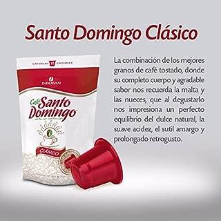 CAFE SANTO DOMINGO CLASICO - Nespresso Compatible Coffee Capsules (10 CAPSULES)