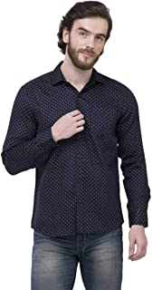Super weston Dotted Cotton Shirts for Men for Daily Purpose,Available Sizes M=38,L=40,XL=42,100% Cotton Shirts