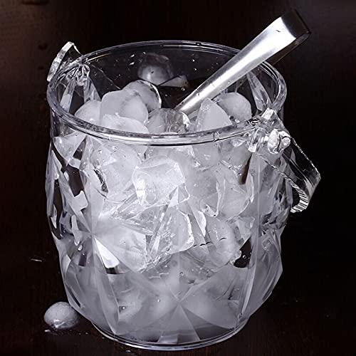 Yousiju 1 PC Acrílico Barra de Hielo Cubo de Hielo Dos Asas Champagne Cubo Cubo de Vino Spit Barrel Contenedor KTV Club Bar Suministros