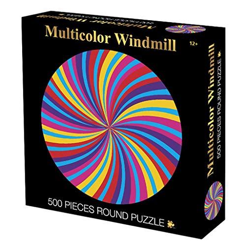 Glad Puzzle 500 stuks van Circular Puzzle Adult Decompression Grote Creative Educatief speelgoed jongens en meisjes Coil Gifts Reeks van de Illustratie Puzzel (Color : B)
