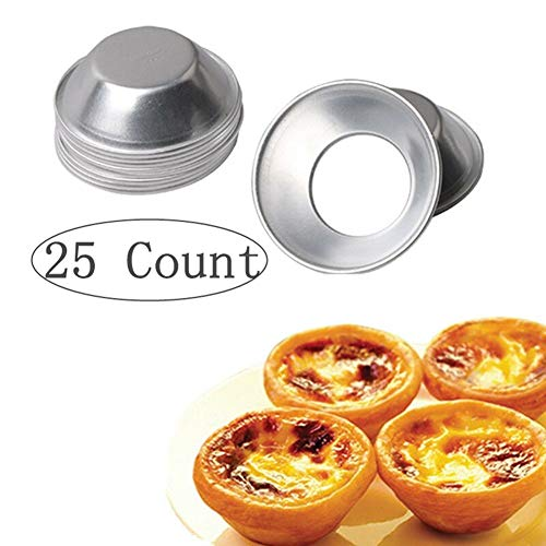 Pack of 25 Pcs Mini Tiny Pie Muffin Cupcake Pans Tin Egg Tart Mold Bakeware -NonStick Puto Cup