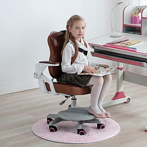 ZHEDYI Correctieve zitstoel, echt lederen bureaustoel, Ergonomische stoel computerstoel, dik kussen comfortabel en ademend, zwaar remwiel