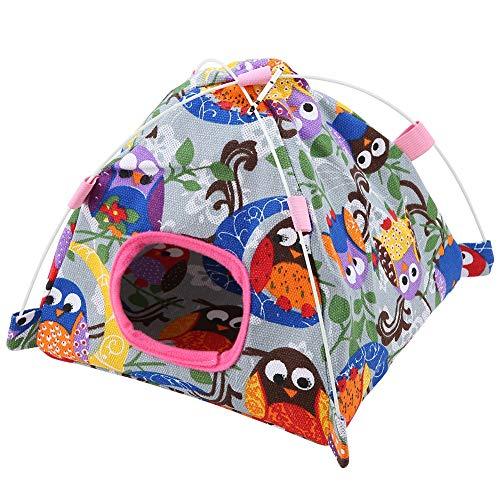 TOPINCN 7 Colores de Dibujos Animados para Loro Tienda de campaña + Jaula de Coral, para Loro pájaros, hámster, Nido de Dormir para Mascotas pequeñas