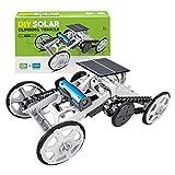 Delicato giocattolo cingolato, arrampicata su cingoli a energia solare 4WD assemblaggio modello di auto giocattolo educazione scientifica regalo per bambini, coltivare la capacità di apprendimento dei
