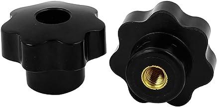 Sourcingmap® à visser type moleté écrous de serrage bouton poignée M8fileté 2pcs Noir