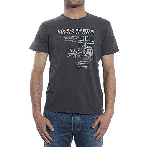 NAPAPIJRI Sepik T-Shirt, Grigio (Volcano), Large Uomo