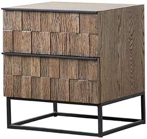 Nachttisch, Nachttisch, Schminktisch, Abstellraum, Schlafzimmer, Schublade, Beistelltisch (Farbe: Braun, Größe: 50 x 46 x 56 cm)