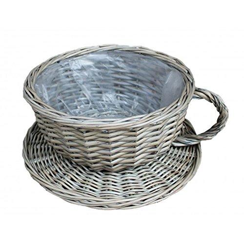 Red Hamper Panier en Osier de Tasse de thé de Lavage Antique