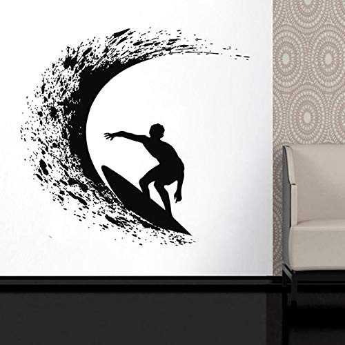 Surfer Wave Board Ozean Extremsport Vinyl Wandaufkleber Home Decoration44x42cm