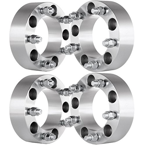 OCPTY 4x 50mm wheel spacers 2' 5x5.5 Wheel Spacers Adapters 1/2x20 Studs fit for Dodge Ram 1500 F150 F100 Jeep Truck