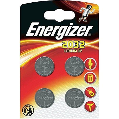 Energizer cr2032 Piles Bouton au Lithium 3 V Batterie – (Lot de 4) Vendu par Generous Relax