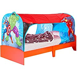 Transform your room and create the ultimate secret play space over your single bed with this fantastic Over Bed Tent Den Printed with your favourite characters the fabric canopy sits over the bed and wraps under the mattress creating the ultimate den...