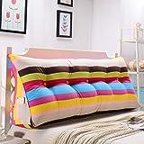 Respaldo Grande Almohada La cabecera de la cabecera triangular Cojín de ratón suave del bolso cama grande sofá simple de Respaldo lavable moda Proteger la cintura ( Color : E , Size : 70×50×20cm )