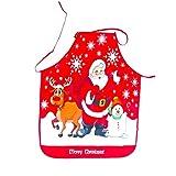 EFINNY Delantales de Estilo navideño Paño Estampado Muñeco de Nieve Delantal de Navidad Fiesta de Navidad Ambiente Decoraciones