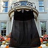 Vohoney Halloween Deko Hängend Deko Halloween Tür Deko Gespenst Geist Gruselig Hängend Türvorhang Dekoration für Halloween Party Deko(Halloween Deko Schwarz)