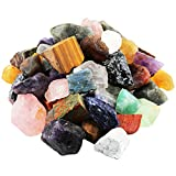 mookaitedecor Piedras de colores mixtos, piedras en bruto, piedras preciosas minerales para familia/oficina/jardín/acuario, decoración, cristal, reiki y curación (460 g)