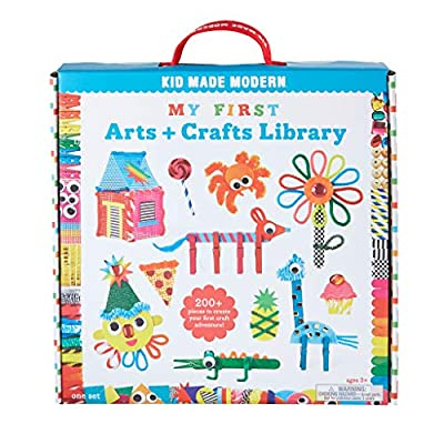 Kid Made Modern Toddler Crafts Ages 2-4 My First Arts and Crafts Library - Craft Kit to Help Developing Fine Motor Skills… from Kid Made Modern