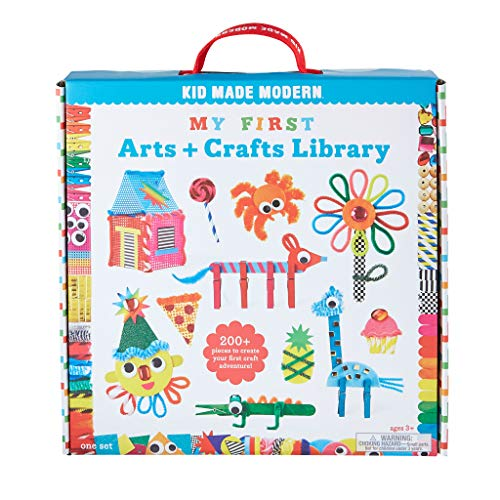Kid Made Modern My First Arts and Crafts Library - Craft Kit to Help Developing Fine Motor Skills…