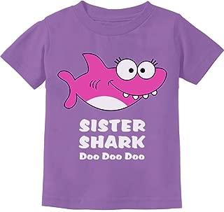 Tstars - Sister Shark Doo Doo Gift for Big Sister Toddler Kids T-Shirt