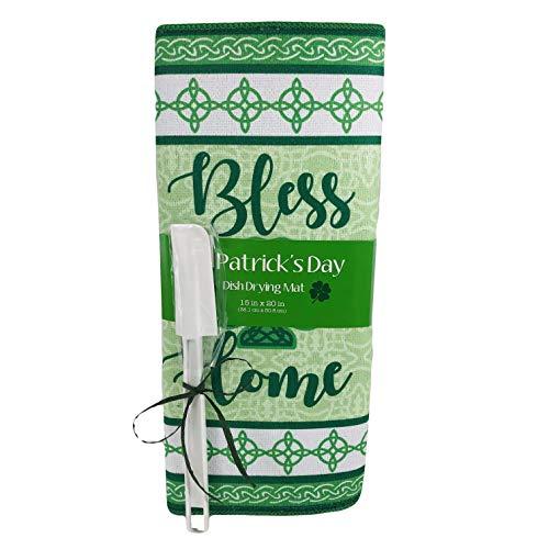 St. Patricks Day Kitchen Dish Drying Mat Irish Celtic Knot Design