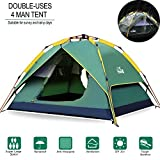 Best 3 Man Tents - Hewolf Camping Tent Instant Setup - Waterproof Pop Review