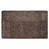 Mud Stopper Felpudo para Puerta con tapón de Barro, poliéster, 50 x 80 cm, Color Gris Pardo