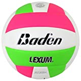 Baden Lexum Composite Volleyball, Neon Pink/Green, Official Size