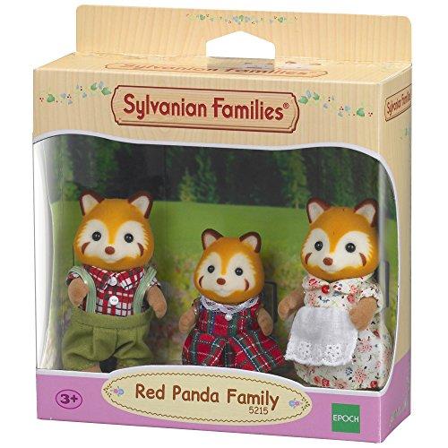Sylvanian Families - Le Village - La Famille Panda Roux - 5215 - Famille 3 Figurines - Mini Poupées
