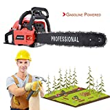 """IOOkME-H 20"""" 62CC 2 Cycle Gasoline Powered Chainsaw Double Spring Automatic Chain Oiler Great Handbar Electric Chainsaws"""
