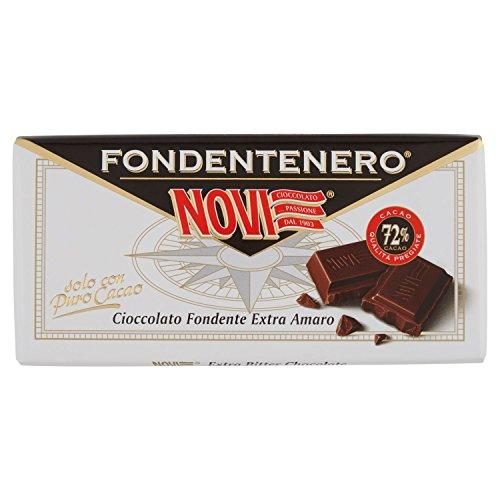 Novi - Fondente Nero, Cioccolata Fondente Extra Amaro - 6 tavolette da 100 g [600 g]