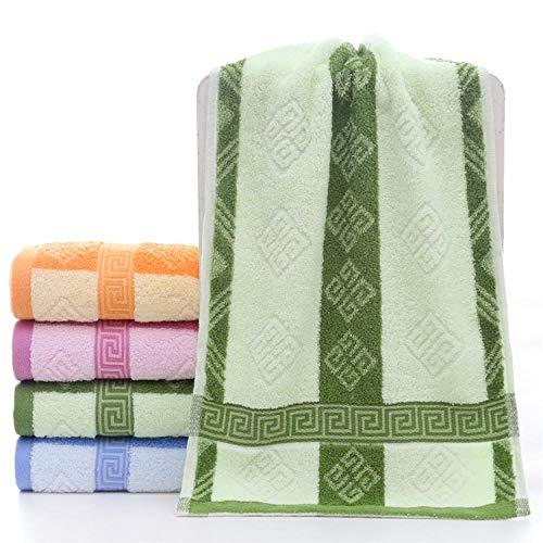 Fuduoduo Toallas Premium 100% algodón,Toalla Suave Absorbente de algodón Puro Multicolor 35 * 75-Verde 4pcs,Suave Y Grueso Altamente AlgodóN Toalla