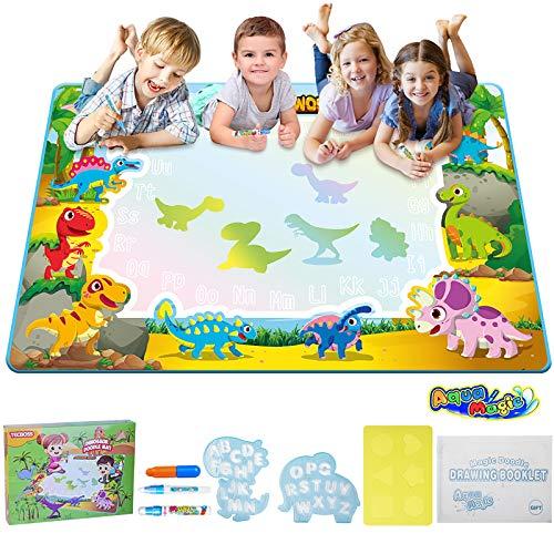 TECBOSS Water Doodle Mat, Kids Large Water Drawing Board Toys, Aqua Magic Mess-Free Painting Doodle...