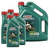 4x 1 L + 5 L = 9 litri Castrol Magnatec 10W-40 A3/B4 olio motore; specifico: API SL/CF; ACEA A3/B4; VW 501 01/505 00; MB 229.1; Meets Fiat 9.55535-D2