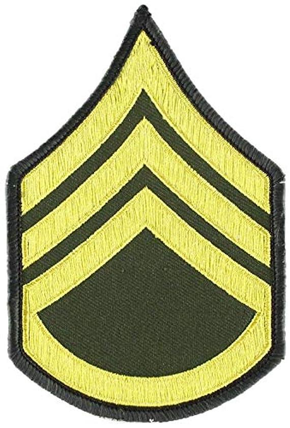 EagleEmblems PM1006 Patch-Army,E6,Staff Sgt (Pair) Dress Green (3'')