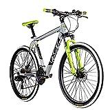 Zündapp FX27 Mountainbike 27,5 Zoll Fahrrad Mountain Bike Hardtail mit Shimano Schaltung MTB Fahrrad Herren Damen mit MTB Rahmen und Federgabel 21 Gänge 650B (grau, 48 cm)