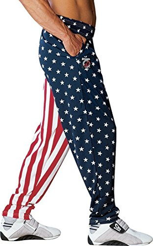 Otomix Men's American Flag USA Baggy Workout Pants Large