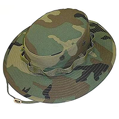 Government Jungle (Boonie) Hat - Woodland Camo (LG (7 1/2))