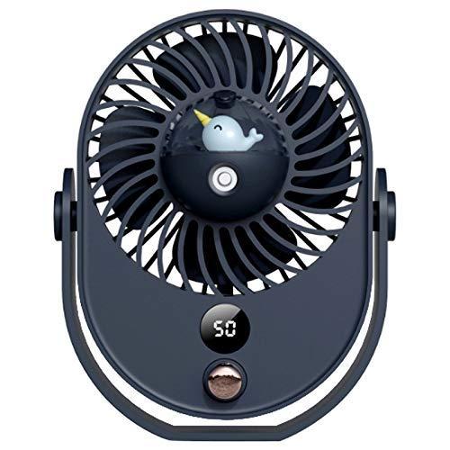 HYY-YY Ventilador portátil de nebulización Ventilador de escritorio humidificador de refrigeración USB recargable múltiples velocidades ventiladores de mano azul
