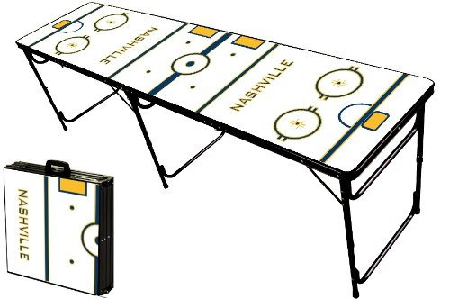 Lowest Price! 8-Foot Professional Beer Pong Table - Nashville Hockey Rink Graphic