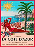 ABLERTRADE Metal Sign 8X12 Inch La Cote d' Azur French