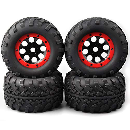 HDMJ 4pcs / Set 1: 8 Neumáticos y Llantas báscula de Camiones con Ruedas de 17 mm Hexagonal Encaja TRAXXAS RC Car Accesorios Modelo Modelo de neumáticos de Rueda ( Color : As Show )