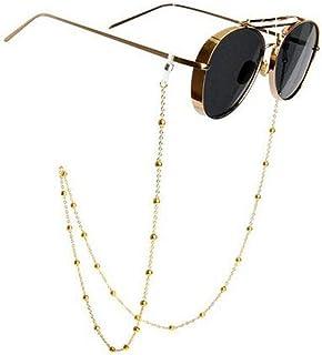 d9929600a9 Gafas de sol de acero inoxidable con cadena para gafas, correa para el  cuello,